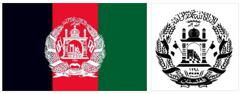 Afghanistan flag and coat of arms