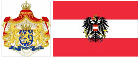Austria flag and coat of arms