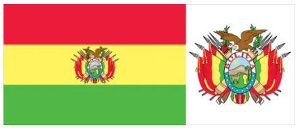 Bolivia flag and coat of arms