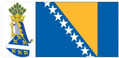 Bosnia and Herzegovina flag and coat of arms