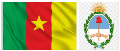 Cameroon flag and coat of arms