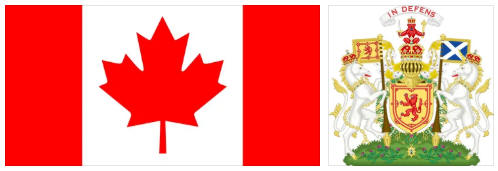 Canada flag and coat of arms