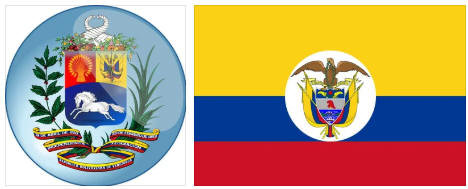 Colombia flag and coat of arms
