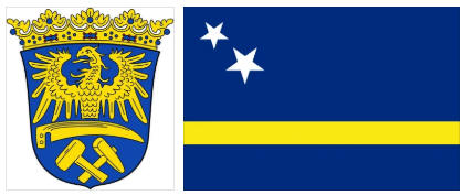 Curacao flag and coat of arms