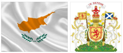 Cyprus flag and coat of arms