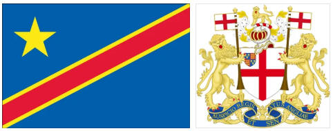 D.R. Congo flag and coat of arms
