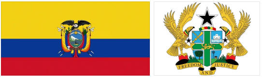 Ecuador flag and coat of arms