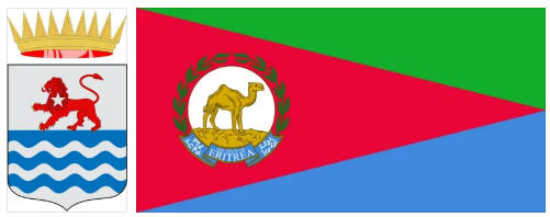 Eritrea flag and coat of arms