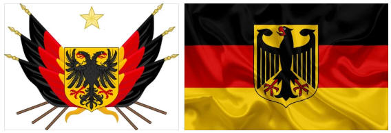 Germany flag and coat of arms