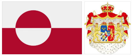 Greenland flag and coat of arms
