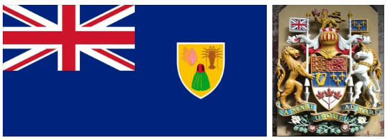 Guadeloupe flag and coat of arms