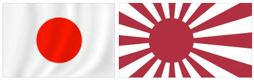 Japan flag and coat of arms