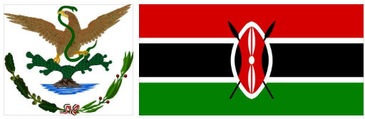 Kenya flag and coat of arms