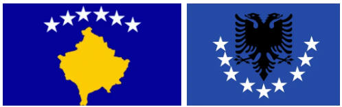 Kosovo flag and coat of arms