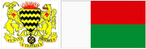 Madagascar flag and coat of arms