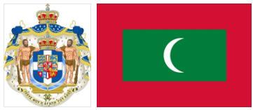 Maldives flag and coat of arms