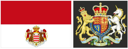 Monaco flag and coat of arms