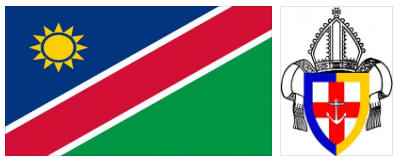Namibia flag and coat of arms