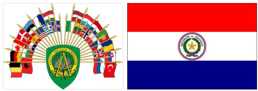 Paraguay flag and coat of arms