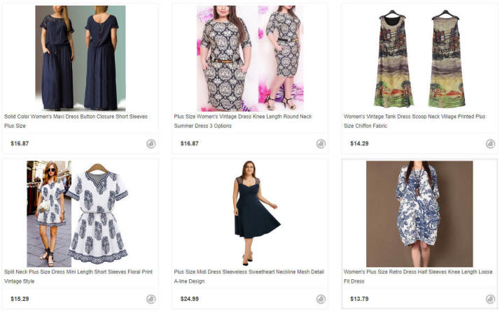 Plus Size Retro Dresses
