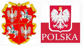 Poland flag and coat of arms