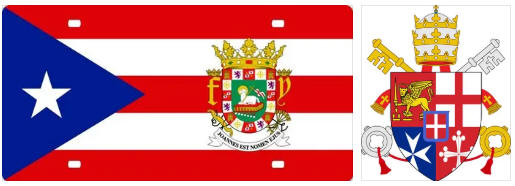 Puerto Rico flag and coat of arms