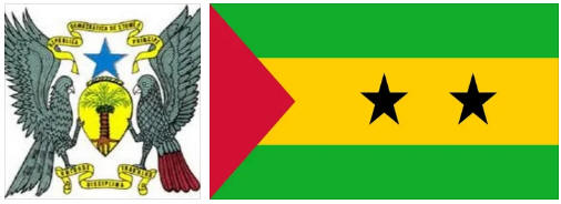 Sao Tome and Principe flag and coat of arms