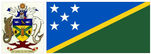 Solomon Islands flag and coat of arms