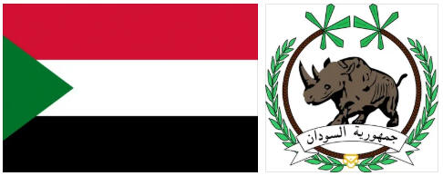 Sudan flag and coat of arms