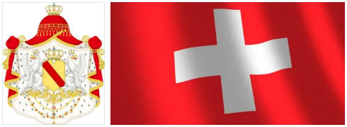 Switzerland flag and coat of arms