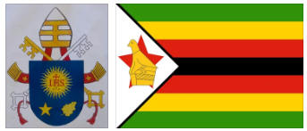 Zimbabwe flag and coat of arms